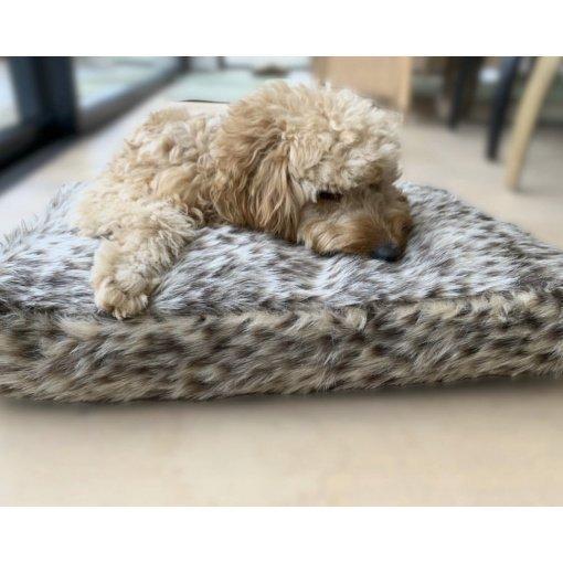 Millie Mats Faux Fur Leopard Dog Bed