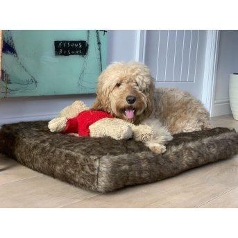 millie mats brown pet bed